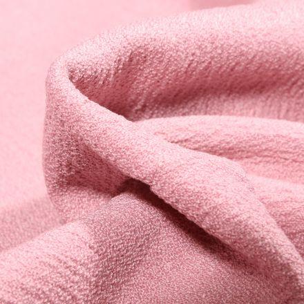 Tissu Crêpe texturé Uni sur fond Rose