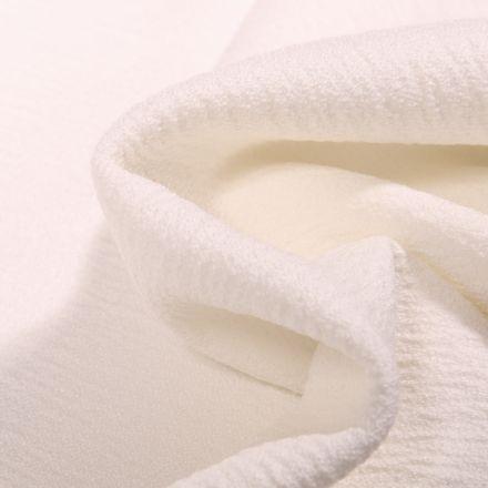Tissu Crêpe texturé Uni sur fond Blanc