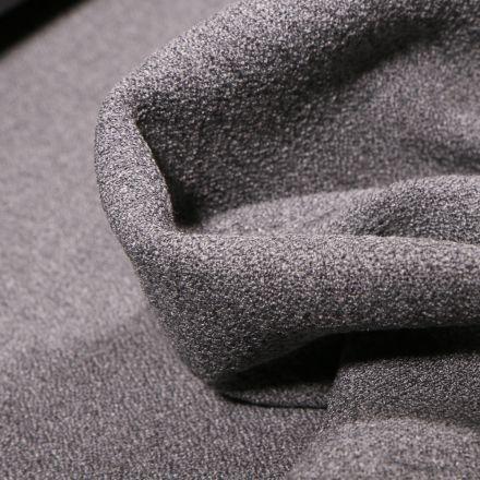 Tissu Crêpe texturé Uni sur fond Gris