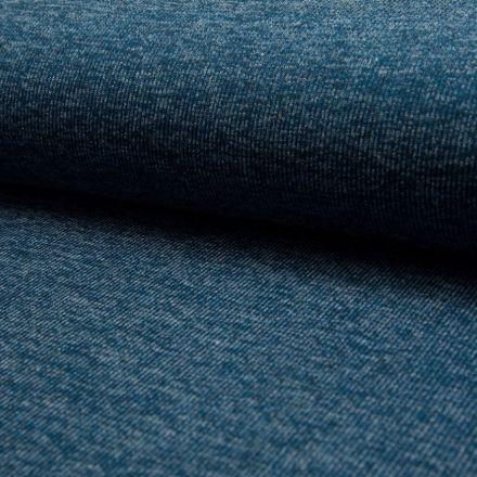Tissu Maille cotelé Bleu pétrole - Par 10 cm