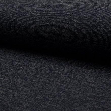 Tissu Maille cotelé Bleu navy - Par 10 cm