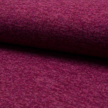Tissu Maille Jersey Verona Chiné Rose fuchsia - Par 10 cm