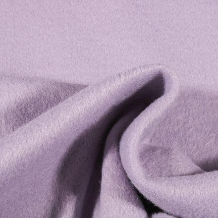 Tissu Drap de manteau épais Lilas - Par 10 cm