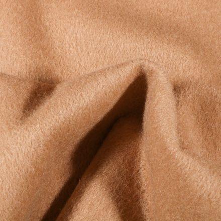 Tissu Drap de manteau épais Camel - Par 10 cm