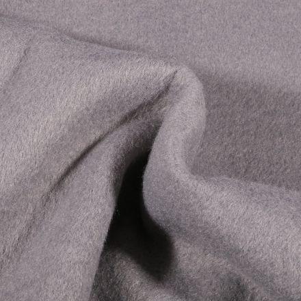 Tissu Drap de manteau épais Gris - Par 10 cm