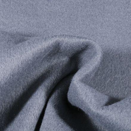 Tissu Drap de manteau épais Bleu gris - Par 10 cm