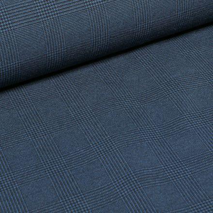 Tissu Bengaline Ecossais sur fond Bleu