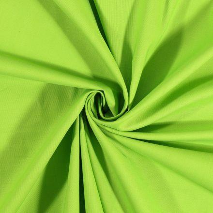 Tissu Coton uni Vert pomme - Par 10 cm