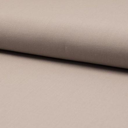 Tissu Coton uni Beige sable - Par 10 cm