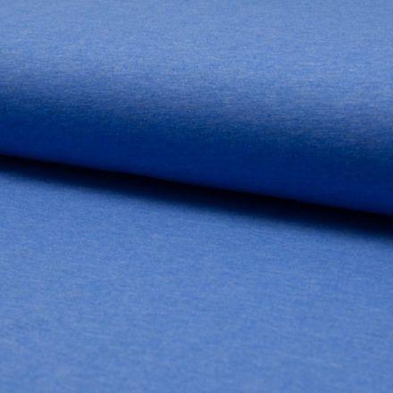 Tissu Jersey Coton Chiné Bleu denim - Par 10 cm