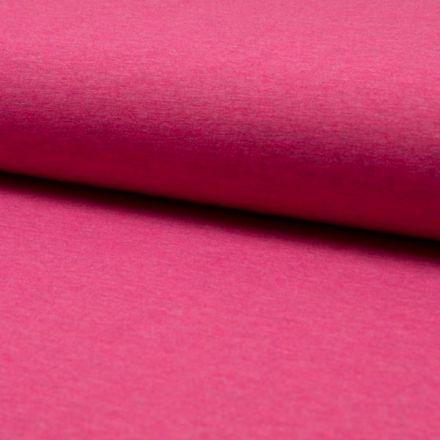 Tissu Jersey Coton Chiné Rose - Par 10 cm