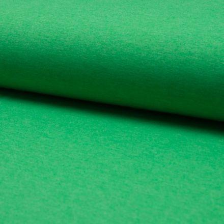 Tissu Jersey Coton Chiné Vert gazon - Par 10 cm