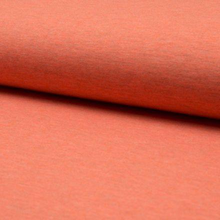 Tissu Jersey Coton Chiné Orange - Par 10 cm
