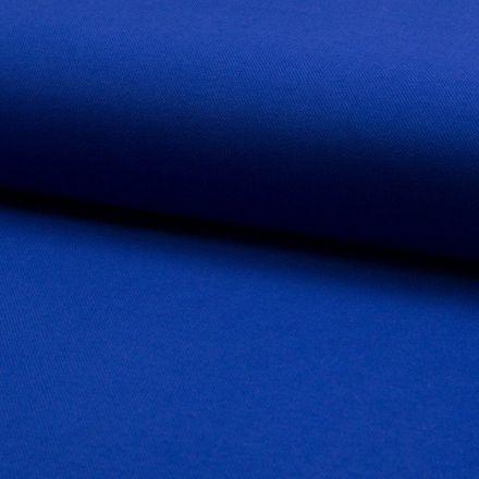 Tissu Jersey Piqué de coton spécial Polo Bleu roi - Par 10 cm