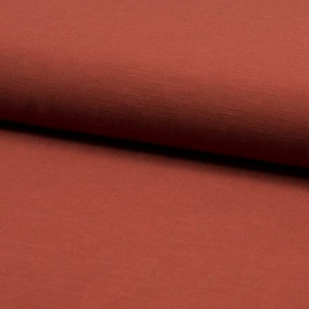 Tissu Viscose lin Santorini Terracotta - Par 10 cm