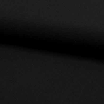 Tissu Viscose lin Santorini Noir - Par 10 cm