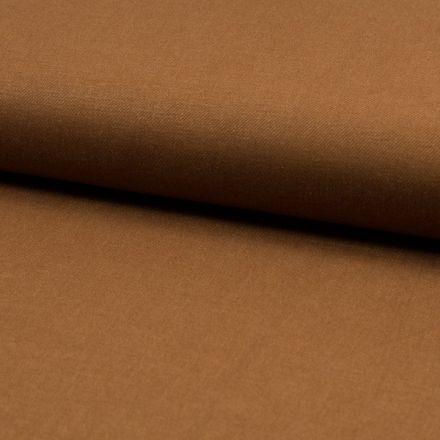 Tissu Viscose Lin twill lycra Camel - Par 10 cm