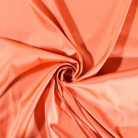 Tissu Voile Satin uni Terracotta - Par 10 cm