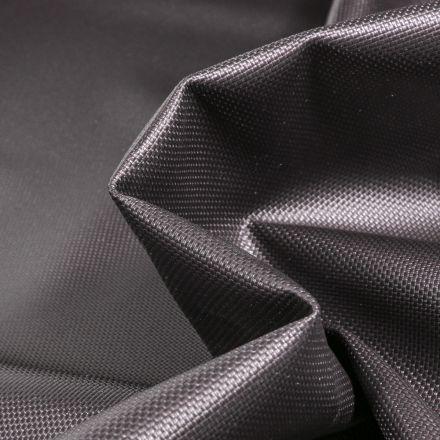 Tissu Toile imperméable uni Cocoon Noir