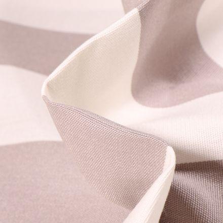 Tissu Toile extérieure Dralon Grande largeur Rayures sur fond Gris