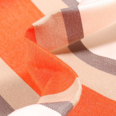 Tissu Toile extérieure grande largeur Dralon Tango sur fond Orange