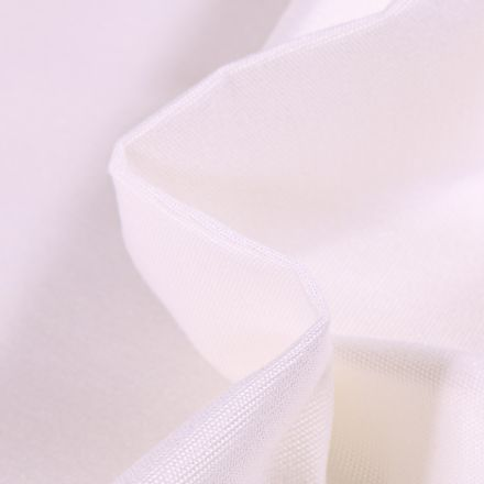 Tissu Toile extérieure uni Dralon Blanc