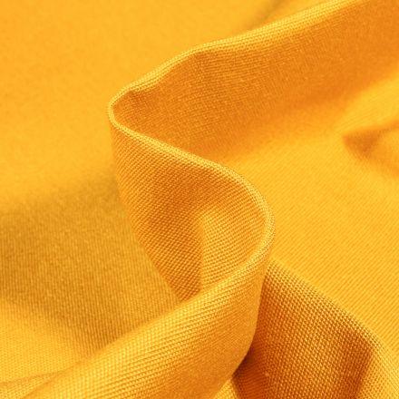 Tissu Toile extérieure uni Dralon Jaune curcuma