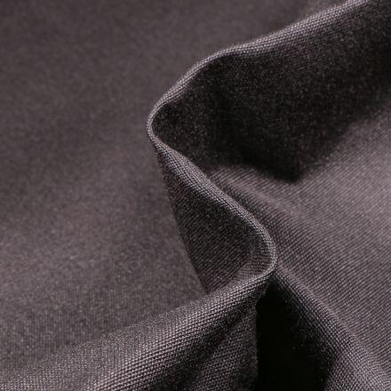 Tissu Toile extérieure uni Dralon Noir