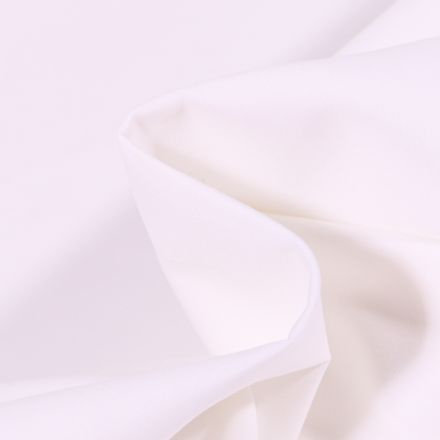 Tissu Percale de coton Grande Laize Blanc