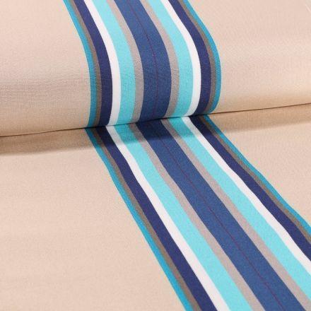 Tissu Toile Transat Playa Cap Ferret Bleu - Par 10 cm