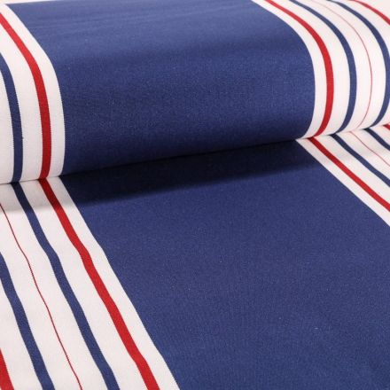 Tissu Toile Transat Playa Levant Bleu - Par 10 cm