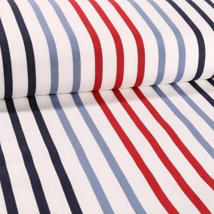 Tissu Toile Transat Playa Petit Bateau Rouge - Par 10 cm