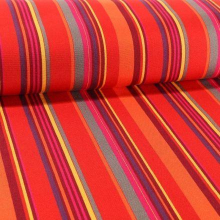 Tissu Toile Transat Playa Portofino Rouge - Par 10 cm