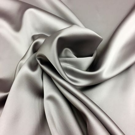 Tissu Satin Duchesse Taupe clair x10cm