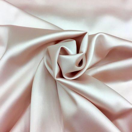 Tissu Satin Duchesse Rose pastel x10cm