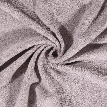Tissu Eponge Deluxe Gris clair - Par 10 cm
