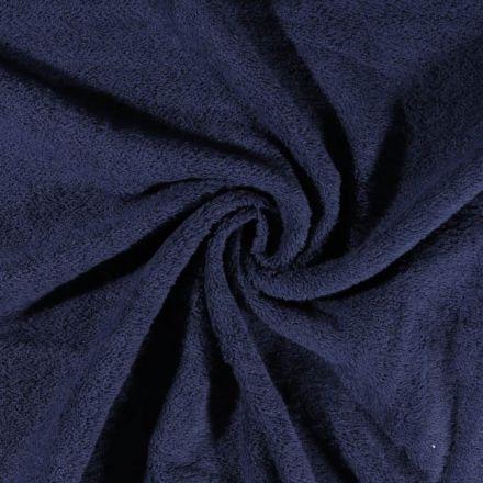 Tissu Eponge Deluxe Bleu marine - Par 10 cm