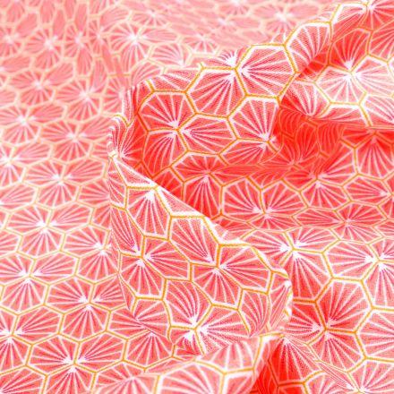 Tissu Coton enduit Riad sur fond Corail