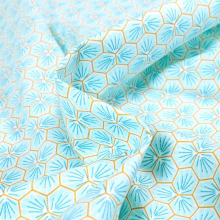 Tissu Coton enduit Riad sur fond Bleu ciel