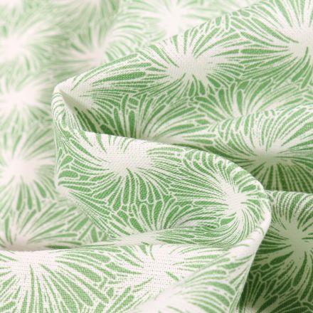 Tissu Coton imprimé Arty Futon sur fond Vert