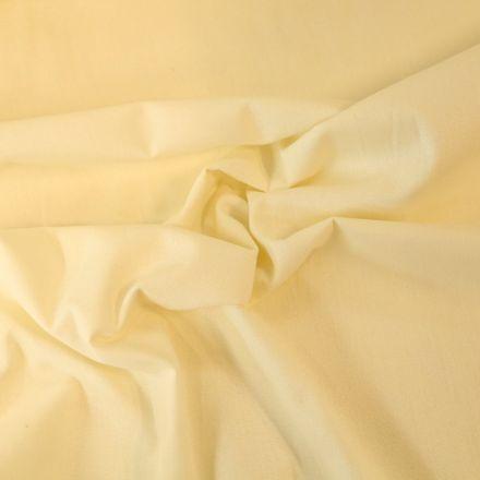 Tissu Coton uni Grande largeur 280cm Santorin Crème - Par 10 cm