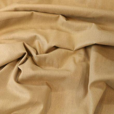 Tissu Coton uni Grande largeur 280cm Santorin Naturel - Par 10 cm