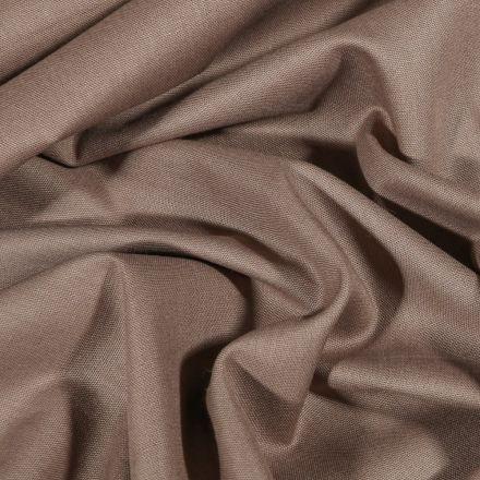 Tissu Coton uni Grande largeur 280cm Santorin Taupe - Par 10 cm