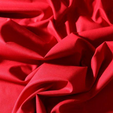 Tissu Coton uni Grande largeur 280cm Santorin Rouge - Par 10 cm
