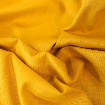 Tissu Coton uni Grande largeur 280cm Santorin Jaune curcuma - Par 10 cm