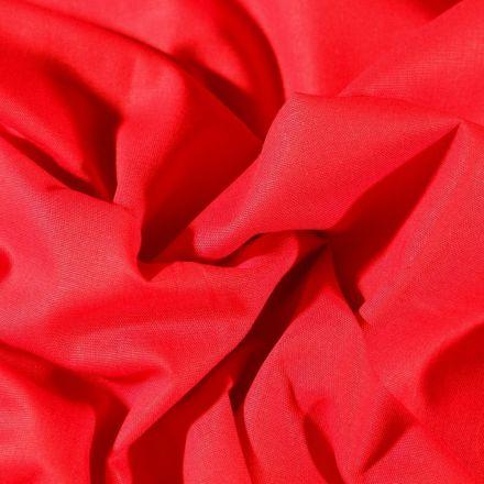 Tissu Coton uni Grande largeur 280cm Santorin Rouge griotte - Par 10 cm