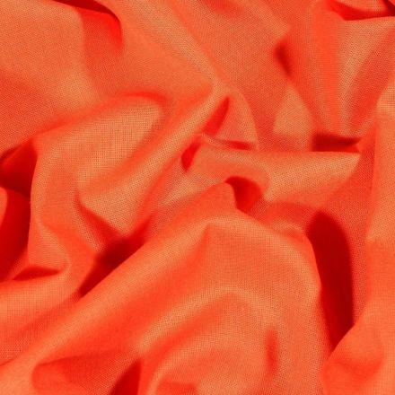 Tissu Coton uni Grande largeur 280cm Santorin Orange - Par 10 cm
