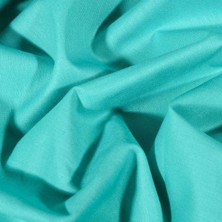 Tissu Coton uni Grande largeur 280cm Santorin Bleu lagon - Par 10 cm