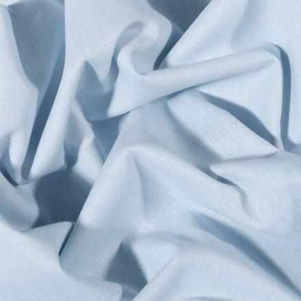 Tissu Coton uni Grande largeur 280cm Santorin Bleu ciel - Par 10 cm