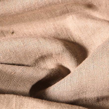 Tissu Lin lavé d'ameublement Taupe - Par 10 cm